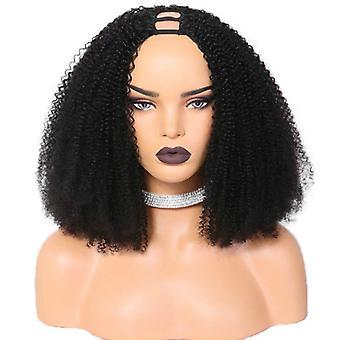 Upart Wigs Afro Kinky Curly Clip în peruci de păr uman pentru femei negre