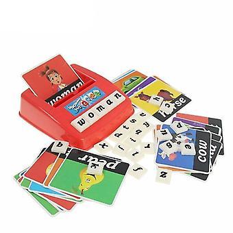 Lapset Aakkoset Puzzle Peli Englanti Kirjaimet Word Kortti