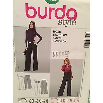 Burda Sewing Pattern 7122 Ladies Misses Pants Size 8-20 Uncut