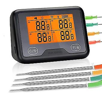 Inkbird digital meat thermometer ibbq-4bw bbq kitchen utensil cooking with graph alarm for grill smoker oven via wi-fi bluetooth