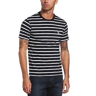Original Penguin Breton Stripe T-Shirt - Dark Sapphire