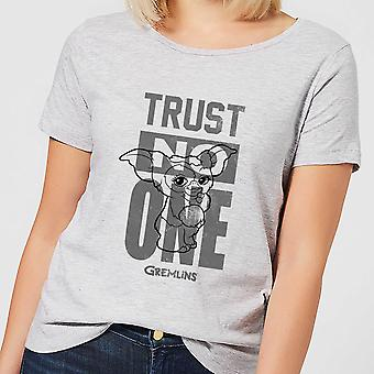Gremlins Trust One Mogwai Merch Womens Short Sleeve T-Shirt Tee Top - Grey