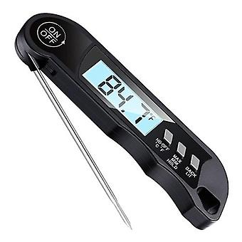 Meat Cooking Thermometer Digital Instant Read Portable Foldable LED Display Food Thermometer for Home Kitchen BBQ Grill Baking