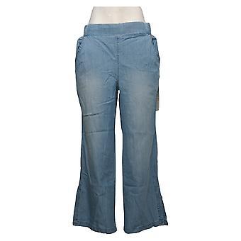 DG2 By Diane Gilman Women's Jeans Side Slit Pull-On Pant Blue 740968