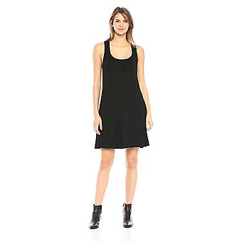 Daily Ritual Women's Jersey sin mangas Racerback Swing vestido, negro / blanco stripe, gran