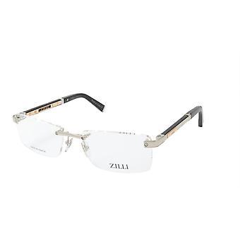 ZILLI glasögon Ram Titanacetat Läder Frankrike Tillverkad ZI 60013 C02