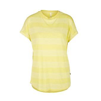 Q/S designed by - s.Oliver 510.10.005.12.130.2037449 T-Shirt, Yellow (Lemon Sorbet Strip 11g0), M Woman