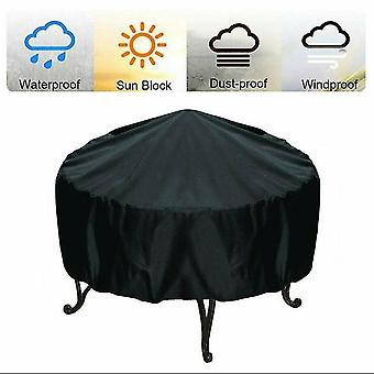 77*58Cm round fire pit cover waterproof dustproof anti-uv full fireplace coverage dt5521
