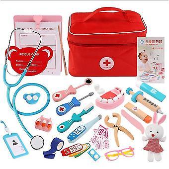 子供のための歯科医ドクターキット シミュレーション薬ボックスプレイハウスドクターロール遊びギフト dt5540
