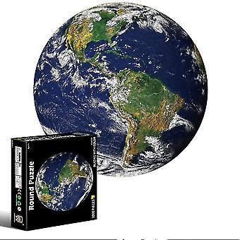 الأرض 1000 قطعة لغز للبالغين والأطفال- الأرض والقمر 3D الألغاز البصرية az11312