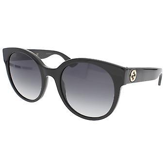 Gucci Round Black Ladies Sunglasses - GG0035S-001