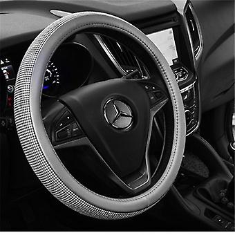New Diamond Leather Steering Wheel Cover,universal Fit 15 Inch Car Wheel Protector