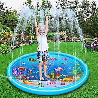 Splash Pad, 170 cm Sprinklerunterlage Sommer Garten Wasserspielzeug Pool Ozeanleben Splash