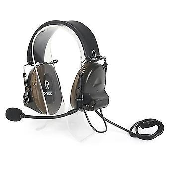 Hoofdtelefoon headsets comtac ii 6.0 versie tactische headset