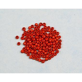4mm Orange Wooden Threading Beads Adults Crafts - 150pk