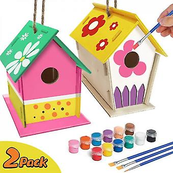 2pack Diy Bird House Kit, construire et peindre Birdhouse