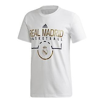 Real Madrid CF Unisex Adult Adidas Basketball T-Shirt
