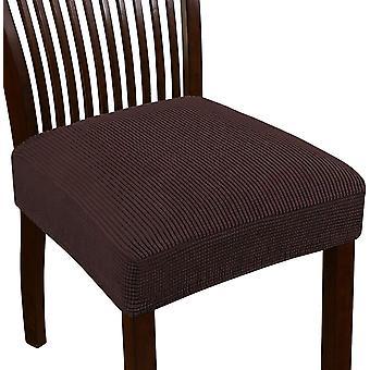 تمتد جاكار كرسي مقعد يغطي لغرفة الطعام كرسي كرسي الانزلاقات القابلة للغسل كرسي مقعد وسادة الانزلاقات، والبني