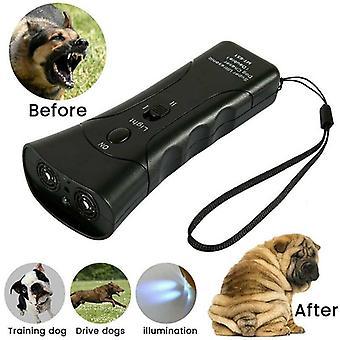 Pet Hund Ultralyd Stop Bark Uddannelse LED Control Trainer Anti Bark Device