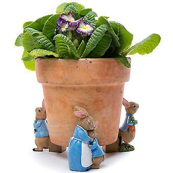 Potty Feet Beatrix Potter Peter Rabbit & Mrs. Rabbit Plant Pot Feet 3pc