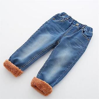 Boys Winter Thick Denim Warm Jeans Pants
