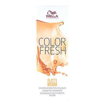 Semi-Permanente Tint Kleur Fresh Wella Nº 8/03 (75 ml)