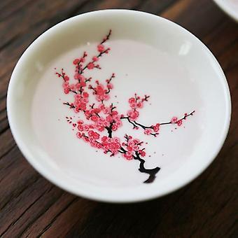 Japansk Magic Sakura Cup Varm temperatur Färgbyte Blomma Display Sake Cup Keramik