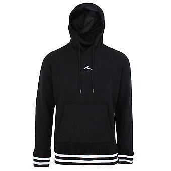Paul & shark men's black logo hooded sweatshirt