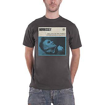 Morrissey T Shirt International Playboys Logo new Official Mens Charcoal Grey