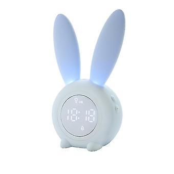 Alarm clocks homemiyn cartoon cute rabbit alarm clock luminous rabbit ears alarm clock best christmas gift for children