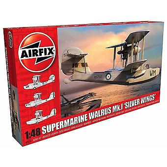 Toy airplanes a09187 1:48 supermarine walrus mk.I silver wings model kit