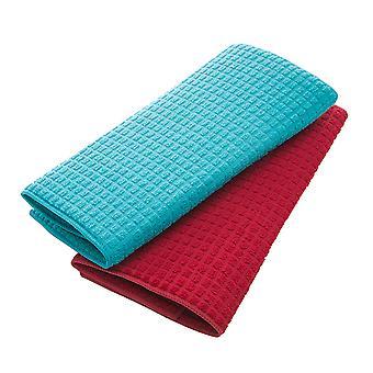 2pcs Rechteckige Geschirr Trocknungsmatten Mikrofaser Geschirr Trockenpads Mehrzweck absorbierende rutschfeste Tischmatte (zufällige Farbe)