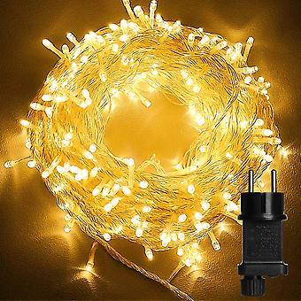 LED-Leuchten 10m 100led Innen- und Außenleuchten 8 Arten von Lichtern mit Ip44-eu wasserdichte Stecker Bäume Weihnachten Hochzeitsdekoration