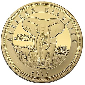 African Zambian Animal Gold Coin Commemorative Coin Collection Wild Gold Coin Coin Foreign Commemorative Medal