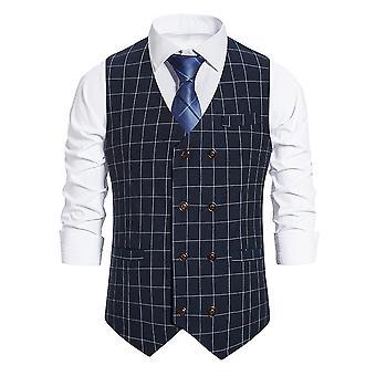 Mile Men's Hipster Urban Design 3 Pockets Business Formal Dress Vest For Suit Tuxedo