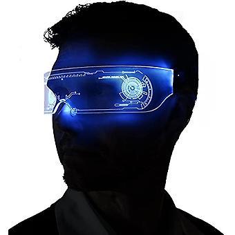 led lys opp briller for voksne med 7 farger og 4 moduser oppladbare futuristiske stil briller