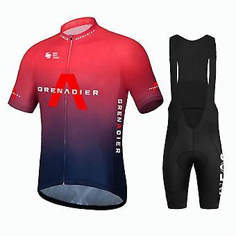 2021 Hiver Hommes Thermal Polaire Manches Longues Cyclisme Jersey Street Bicycle Vêtements Cyclisme Vêtements Bavoir Pantalon Ensemble Ropa Ciclismo