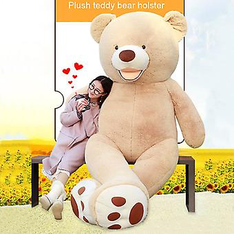 Teddy Bear Big Stuffed Toy Cover Énorme peau Diy Dolls Peluche Soft Gift pour Noël