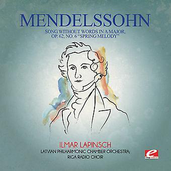Felix Mendelssohn - Mendelssohn: Lied zonder woorden in een grote Op 62 USA import