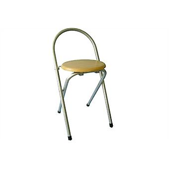 Metal Folding Chair with Wooden Seat