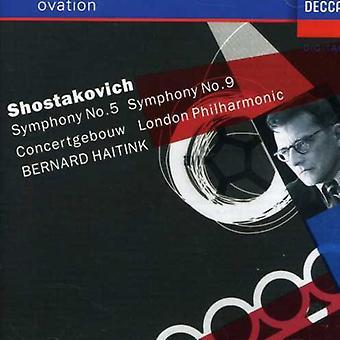 Haitink/Royal Concertgebouw orquesta - Shostakovich: Sinfonía n º 5; Sinfonía nº 9 [CD] USA importar
