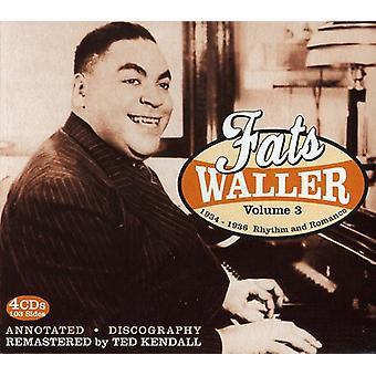Fats Waller - Fats Waller: Vol. 3-1934-36 Rhythm & Romance [CD] USA import