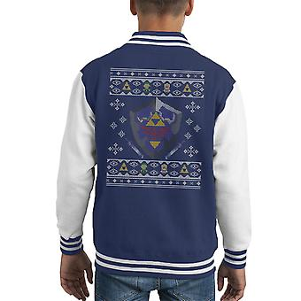Tricot de Noël Zelda hylienne bouclier Varsity Jacket de Kid