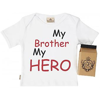 Spoilt Rotten My Bro My Hero Toddler T-Shirt 100% Organic Cotton