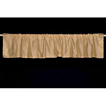 Golden - Rod Pocket Top It Off handmade Sari Valance - Pair