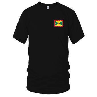 Drapeau National du pays de Grenade - Logo - brodé 100 % coton T-Shirt Ladies T Shirt