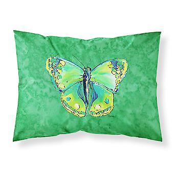 Grün auf grün feuchtigkeitsableitende Stoff standard Kissenbezug Schmetterling