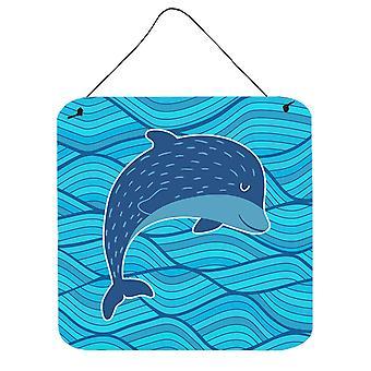 Carolines Schätze BB6781DS66 Dolphin Wand oder Tür hängen Drucke