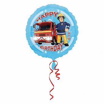 Amscan Fireman Sam Happy Birthday Round Foil Balloon