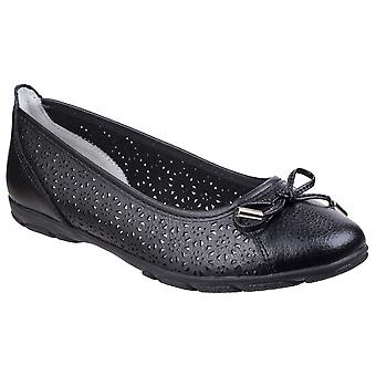 Fleet & Foster Womens/Ladies Lagune Leather Flat Ballerina Shoes